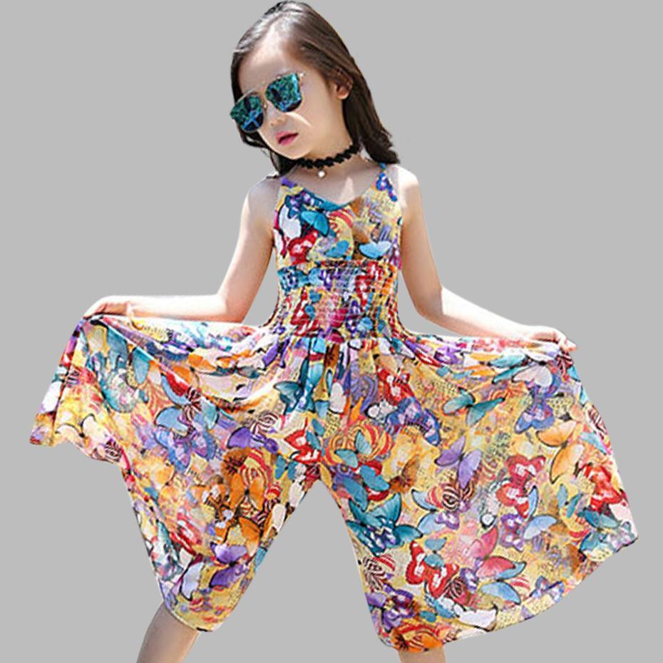 2020 novíssimo Meninas Vestidos Bohemia Crianças Vestidos Meninas de partido floral do verão Vestidos Meninas Adolescentes Roupa Para 6 8 12 Anos Y200102