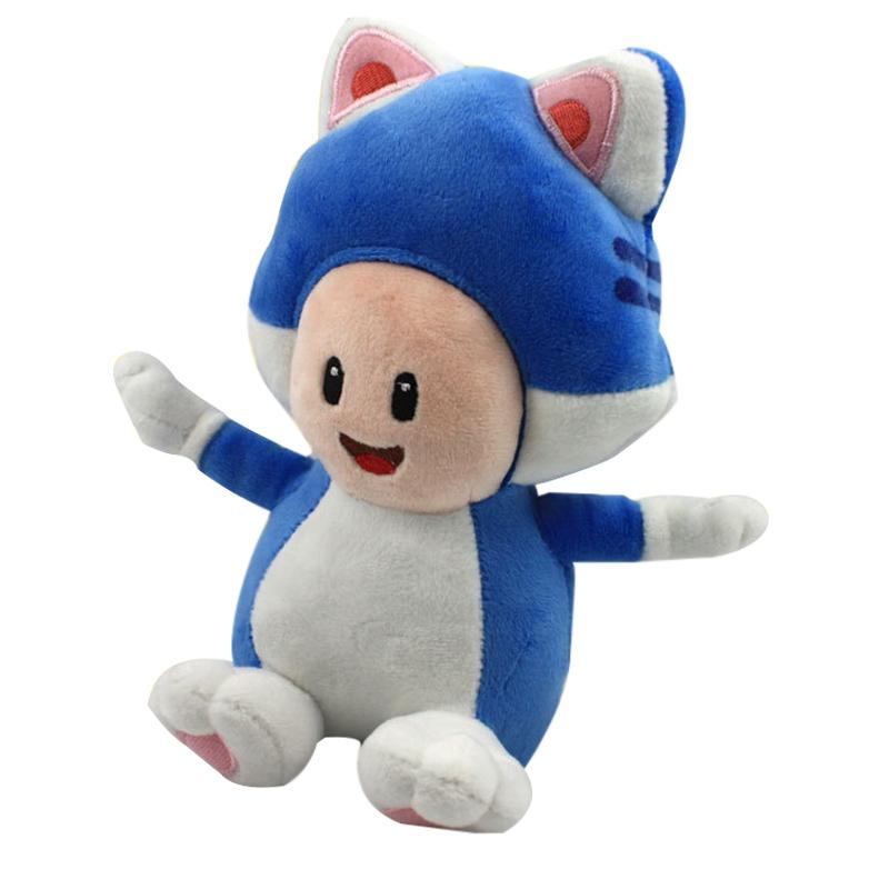 20cm Super Mario 3D world Game blue cat mushroom people Plush Toys with tag cute Mario soft stuffed plush doll kids gift