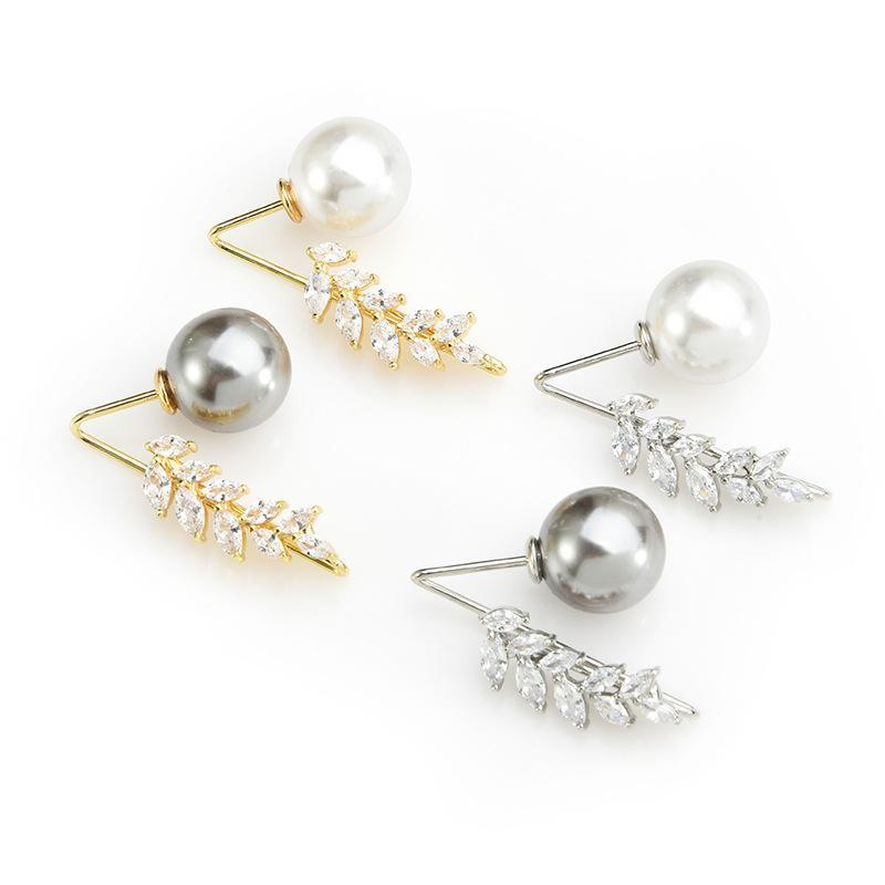 Branch pearl simple brooch pin wild creative dark pin collar fixed buckle clothing accessories female