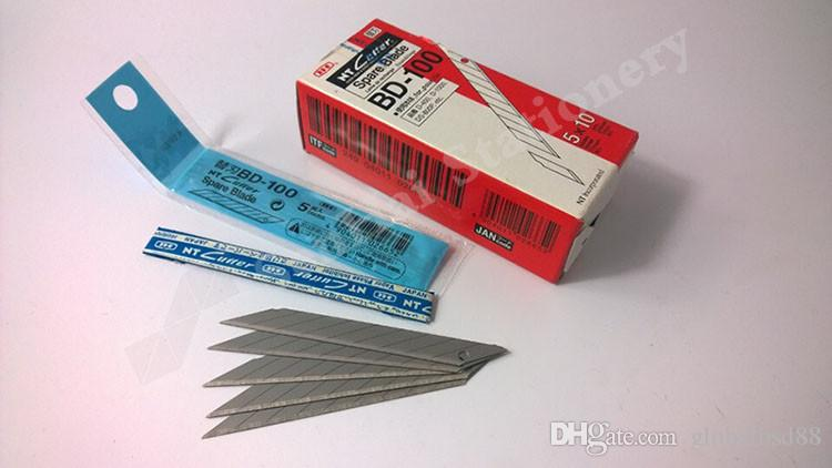 50pcs/Box Airlfa for Japan NT Cutter Spare Replacement BD-100 small art blade 9mm 30 degrees