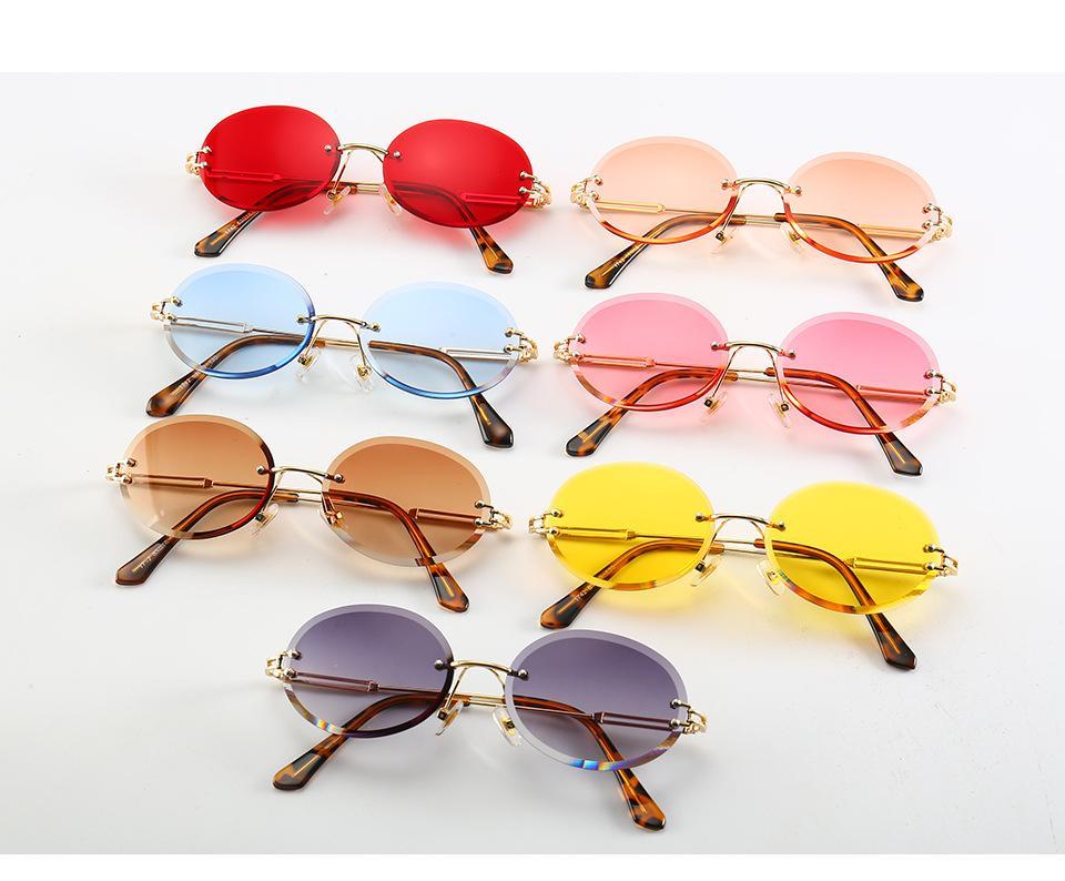 All'ingrosso-famoso designer di marca di moda giallo rosa rosso stili occhiali da sole occhiali da sole a forma di capsula occhiali da sole retrò punk all'ingrosso
