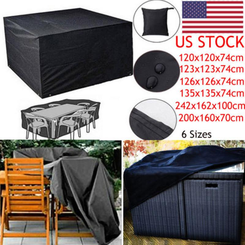 Brand New Style Heavy Duty Waterproof Rattan Cube Outdoor Cover Garden Patio Furniture Sofa Home