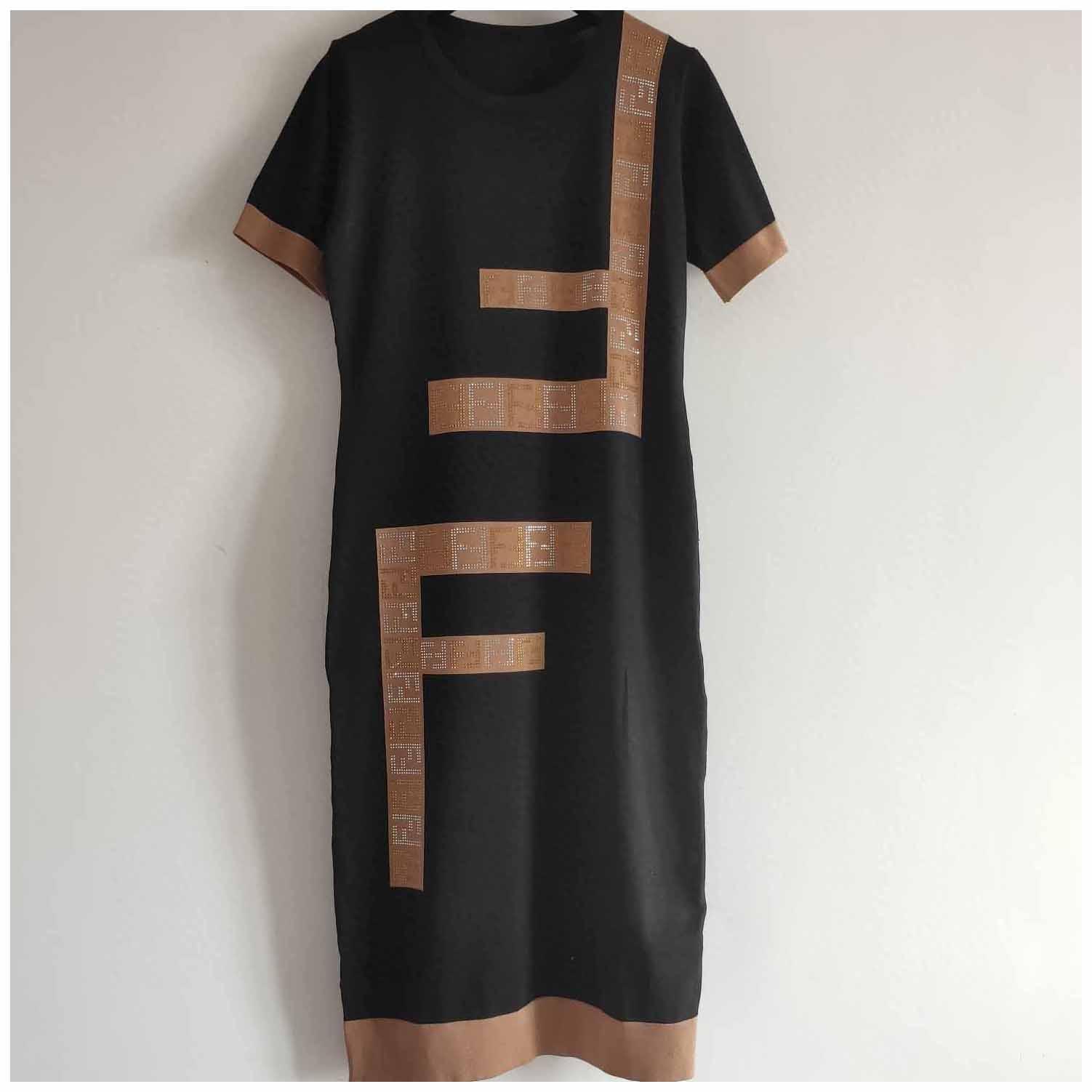 Женские Дизайнерские Платья Дам Бренд Письмо Печать Юбки Женщин Случайные Летние Платья Мода Роскошные Стиль Женщины Длинные Платья
