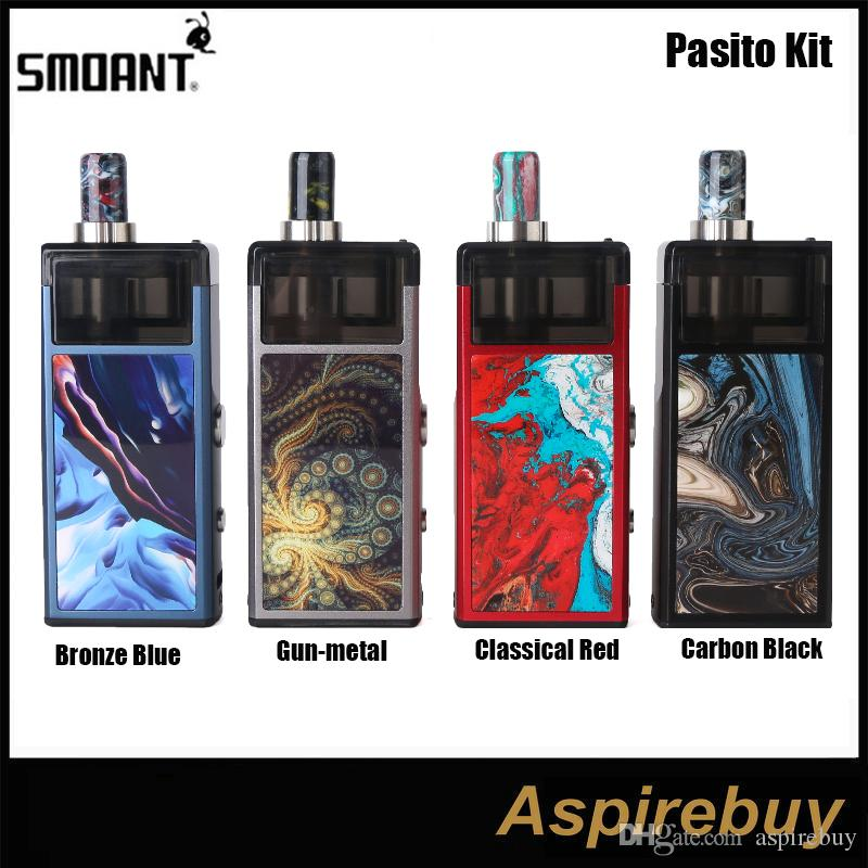 Smoant Pasito Kit 1100mAh Стартер Vape Pen Rebuildable Pod System 3ML Распылитель для MTL DTL Vaporizador VS Orion Kit Authenic