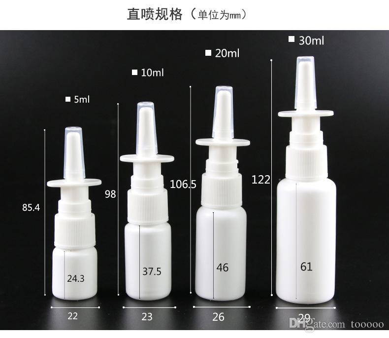 Atacado 2000 pcs 10 ml Branco Vazio Plástico Frasco De Spray Nasal 10 ml Atomizadores Nasais Frasco De Spray Vazio