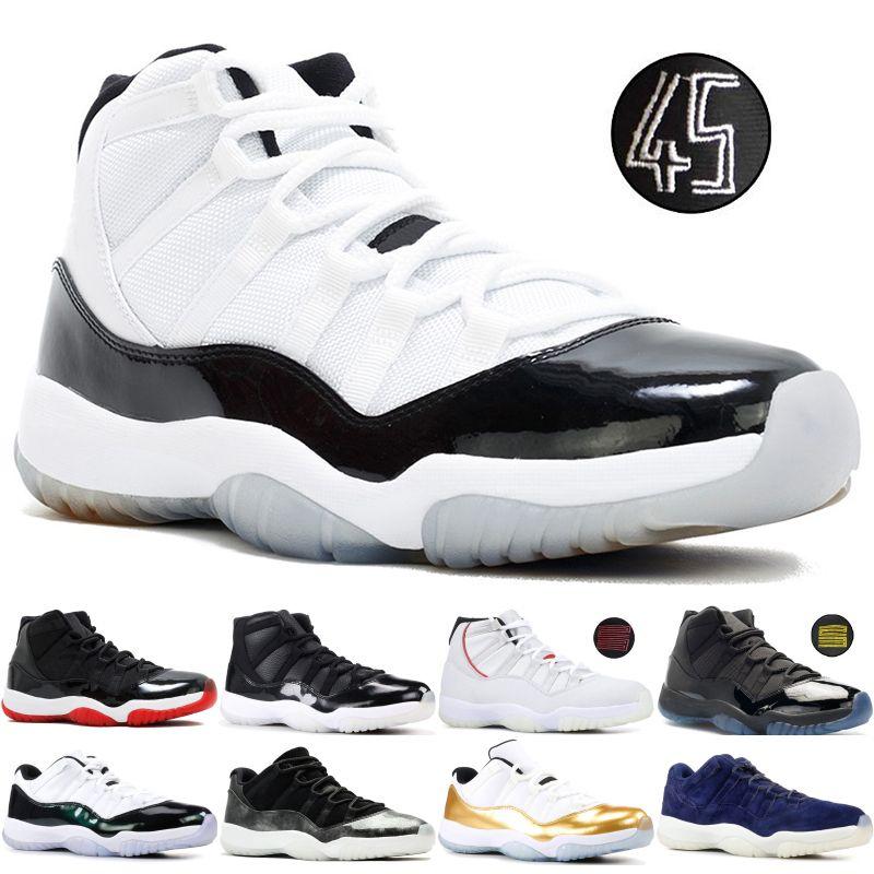 meilleur service 158c0 1d64c Concord 45 Nike Air Jordan 11 11S Retro XI Platinum Tint Hombre Zapatillas  de baloncesto 11 Bred Space Jam Cap y Bata PRM Mujer Zapatillas deportivas  ...