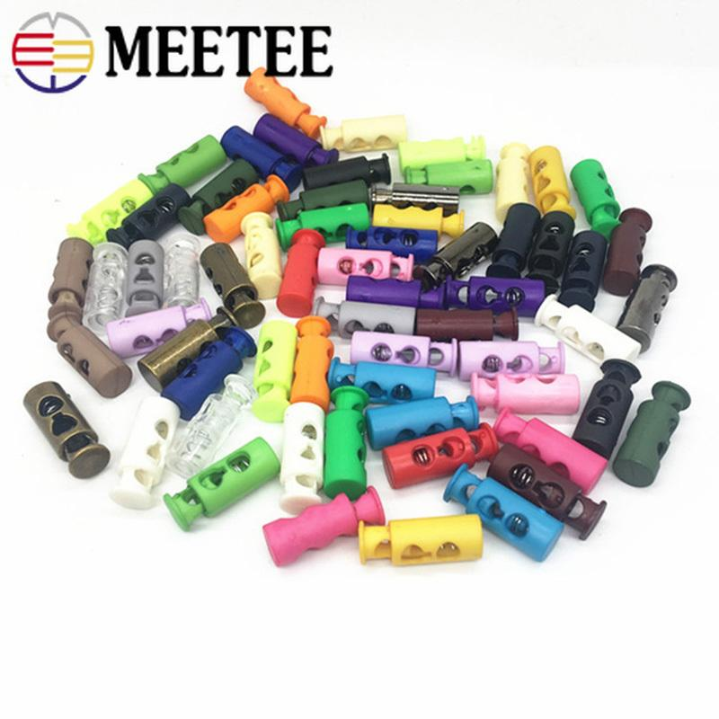 2020 Bd430 Meetee 4mm Plastic Cord Lock Stopper 2 Holes Toggle Hat