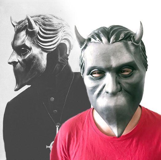Adulte Fantôme Bc Bande Sans Nom Goule Latex Masque Cosplay Costume Drôle Effrayant Masques Complets Masque Prop Halloween Fête pour Hommes Femmes