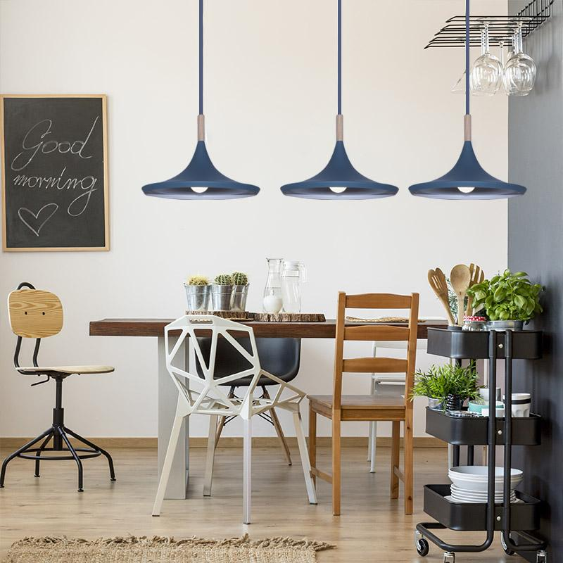 Modern Creative Blue Pendant Light E27 Bulb Included Attractive Lamps Musical Instrument Restaurant Dining Room Hanging Light I277