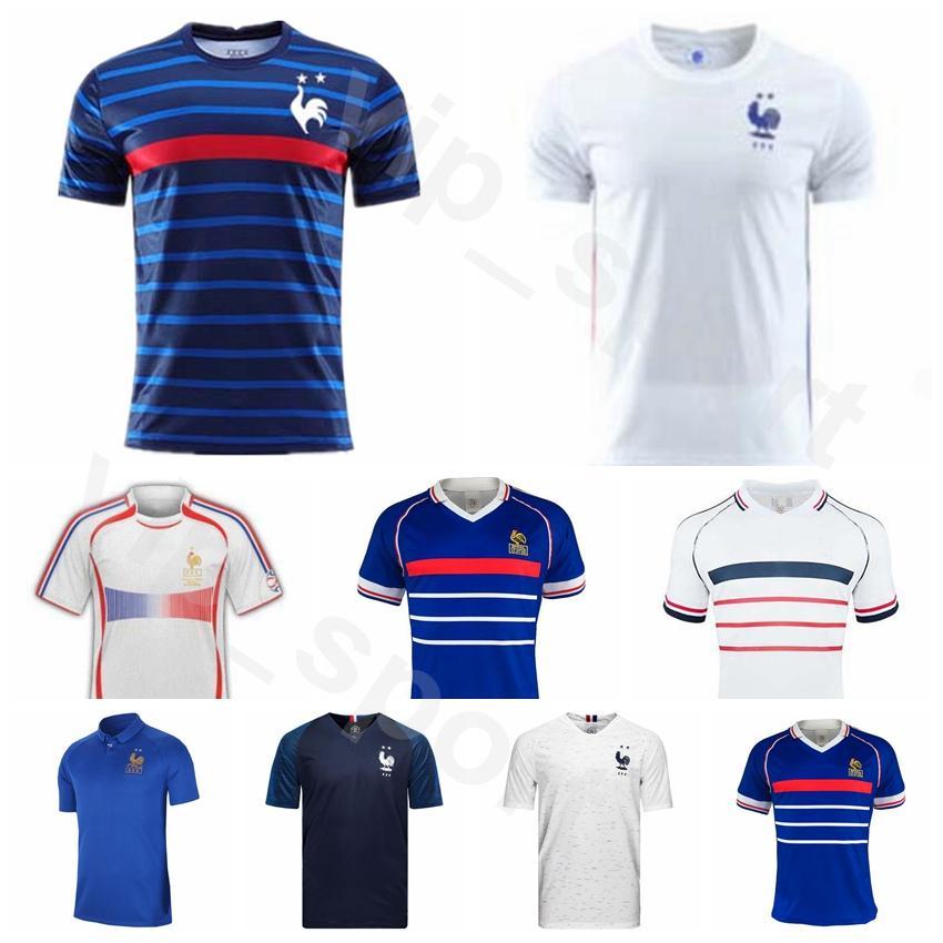 França 20 21 Futebol 1998 2006 Retro 10 Mbappé Jersey 6 Pogba 9 GIROUD 7 GRIEZMANN 8 LEMAR 4 Varane Futebol shirt Kits