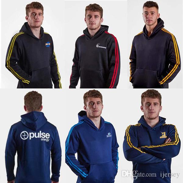 Suports de Nouvelle-Zélande Sweat à capuche Sweat de rugby Blues ouragans Jersey Crusaders Highlanders Jacket Super Rugby Jerseys Formation