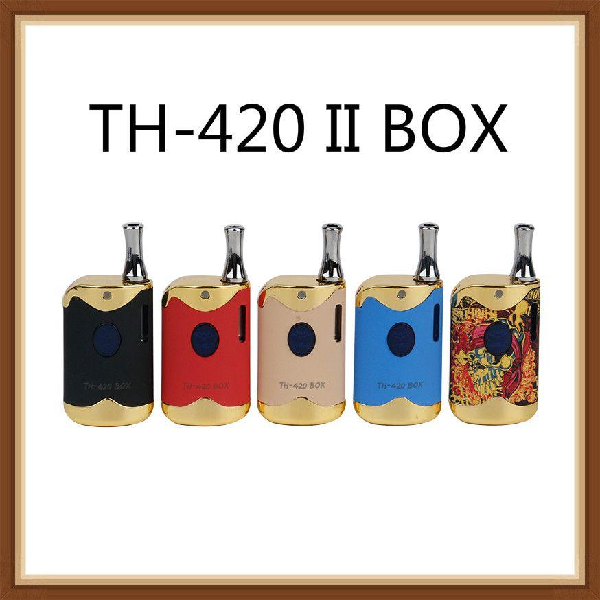 Подлинный Kangvape TH-420 II BOX Kit с батареей 650 мАч Th-420 инструкции Vape Box Mod для Толстого масляного картриджа распылитель 100% оригинал
