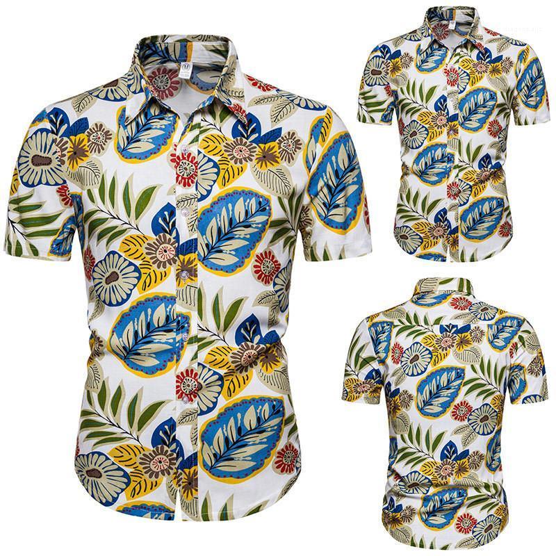 Chemises de vacances style Hommes Chemises 20SS Hommes Designer Shirts Fashion Hawaii imprimé floral cou à manches courtes Lapel