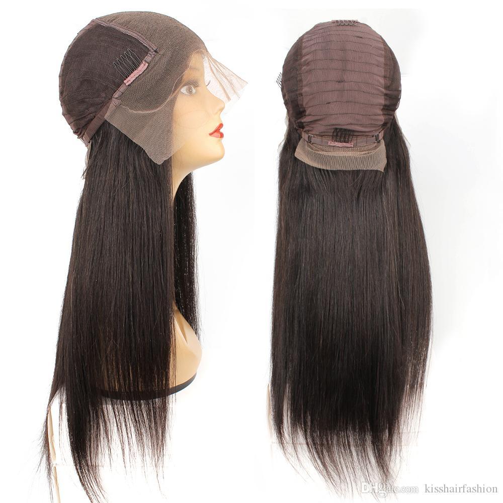 KISSHAIR 13x6 الرباط الأمامي شعر مستعار 8-26 بوصة اللون الطبيعي ريمي الإنسان البرازيلي باروكة شعر خط الشعر قبل التقطه حريري مستقيم
