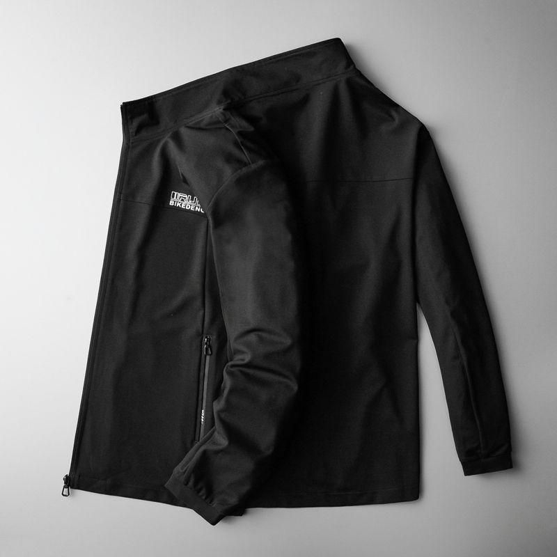 Formato più della molla Stampe del basamento di modo da jogging rivestimento del cappotto grasso della gioventù di estate degli uomini Windbreaker