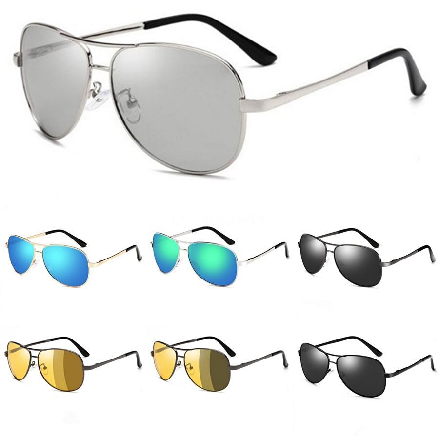 Vendita calda classica rotonda 3447 degli occhiali da sole per gli uomini le donne di vetro di Sun unisex Eyewear Maschile Oculos Per scegliere con Cases brwon # 60323