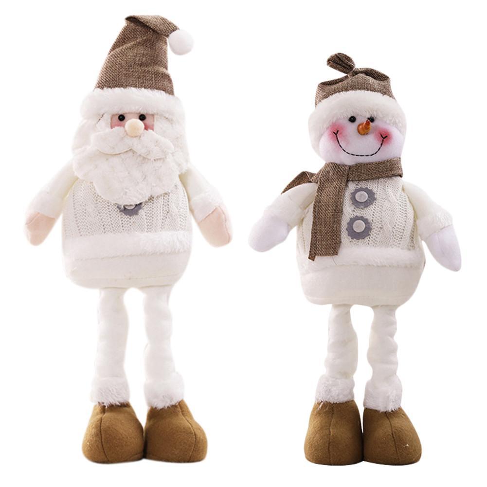 Babbo Natale Figurine Decorative Snowman Doll ornamento di Natale decorazioni per la casa Navidad Capodanno