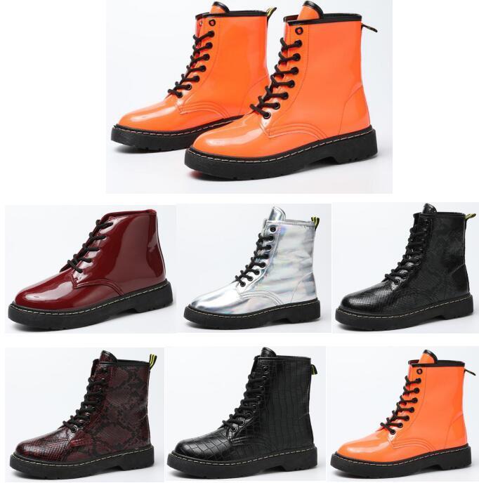 Espessa calcanhar botas mulheres Martin sapatos tornozelo atacado genuína botas de couro muscular único laço acima de boot calcanhar robusta para as mulheres