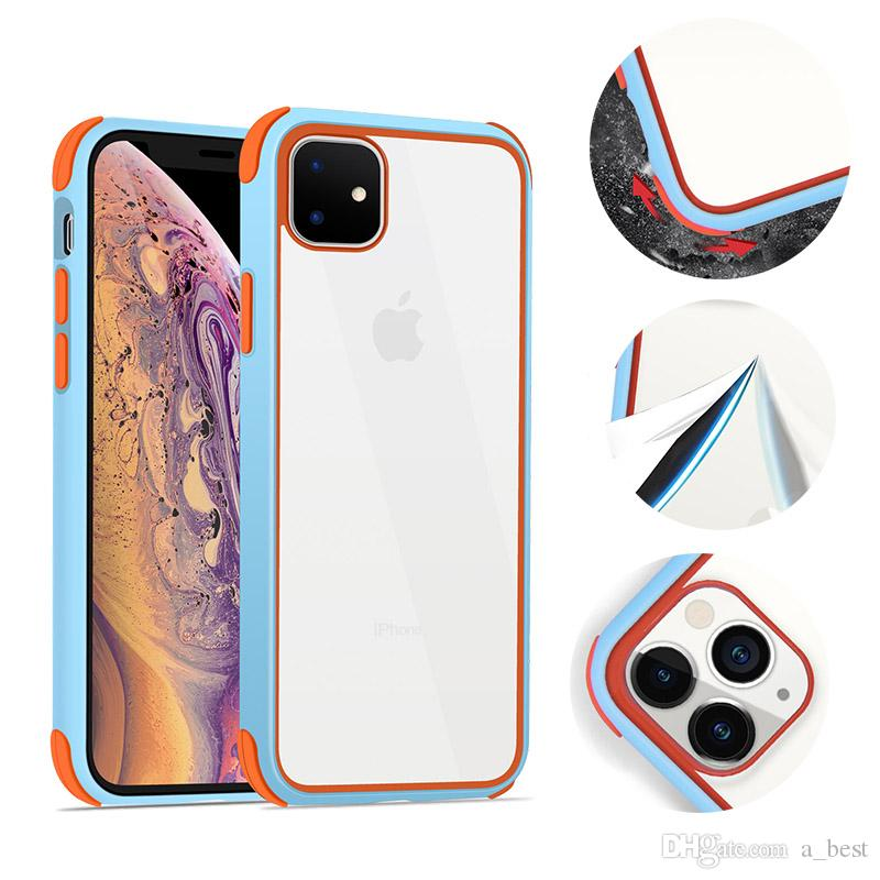 Acrylic Cell Phone Case For iPhone 11 Pro MAX XR XS X 8 7 Clear Hard Back Cover Samsung Note10 Plus Silicone Shockproof