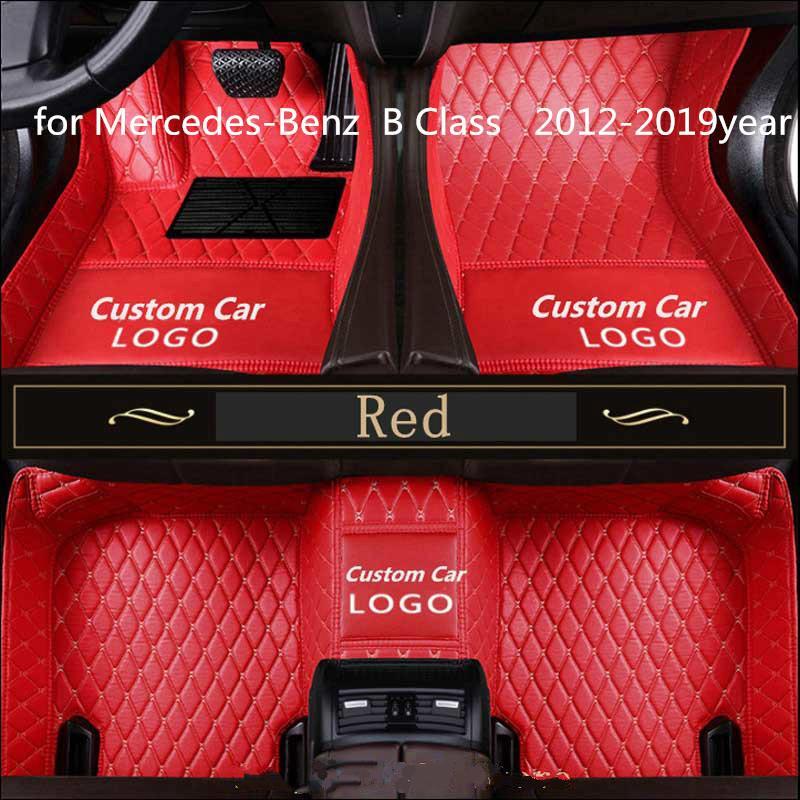 pour Mercedes-Benz Classe B 2012-2019year antidérapante tampon non toxique pied de voiture tapis de pied