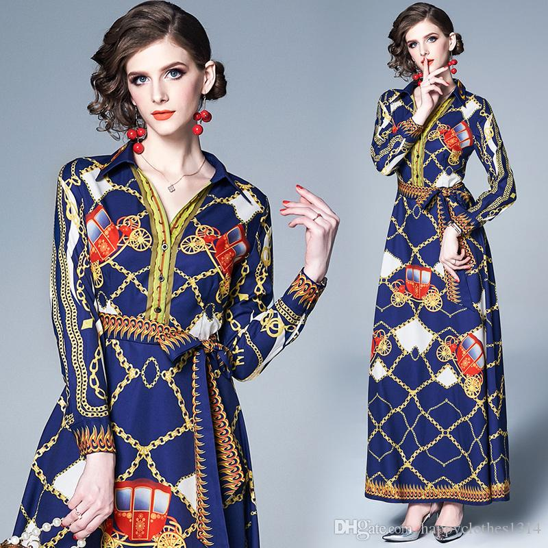 Luxe Imprimer Floral Casual Mode Femmes Lapel Neck Classique Shirt Robe Taille Elegant Plus Bureau Sexy Lady Slim Soirée Robes