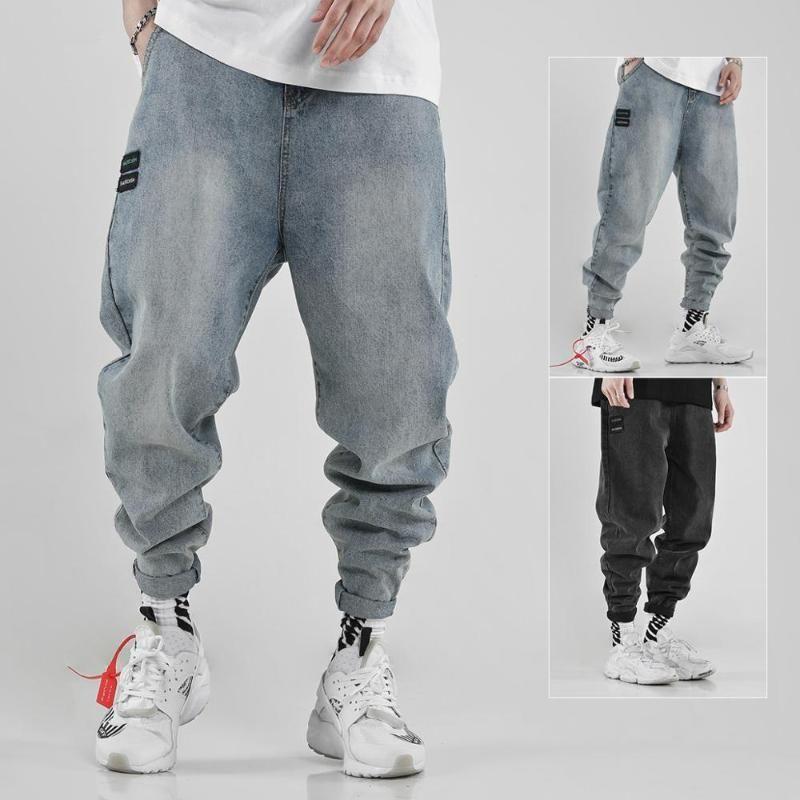 Compre 2020 Pantalones Anchos De Hip Hop Pantalones Vaqueros Rectos Del Mens De La Pierna Herren Pantalon Homme Jean De Mezclilla Hombres Harajuku Modis Streetwear Ropa De La Manera A 41 87
