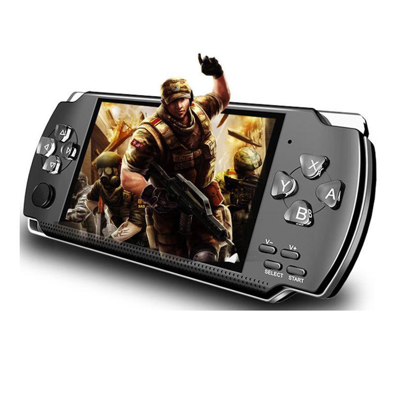 PSP X6 Oyun Deposu Klasik Oyunlar TV Çıkışı Taşınabilir Video Oyunu Player için PMP X6 El Oyun Konsolu Ekran