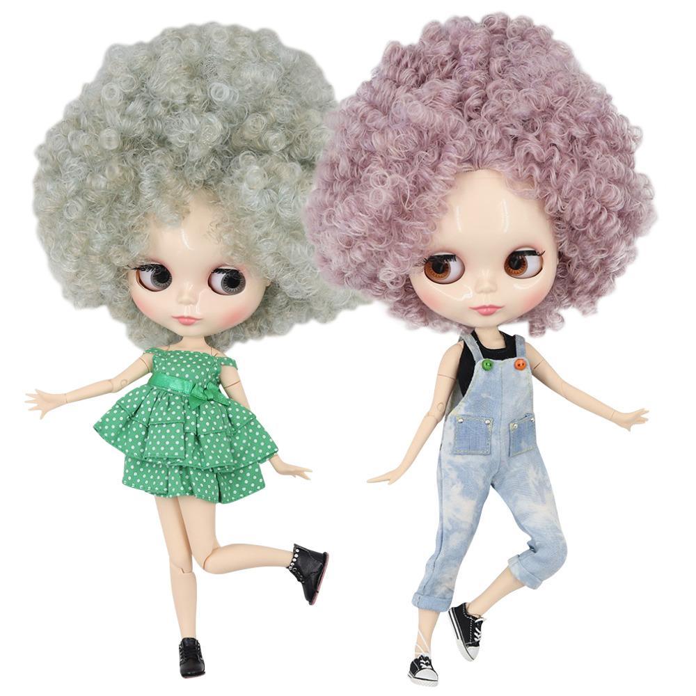 DBS ICY Fabrik blyth Puppe 1/6 nackte Puppe 30cm Spielzeug Gelenkkörper glänzendes Gesicht lockiges Haar Afro-Haar T200429 BJD
