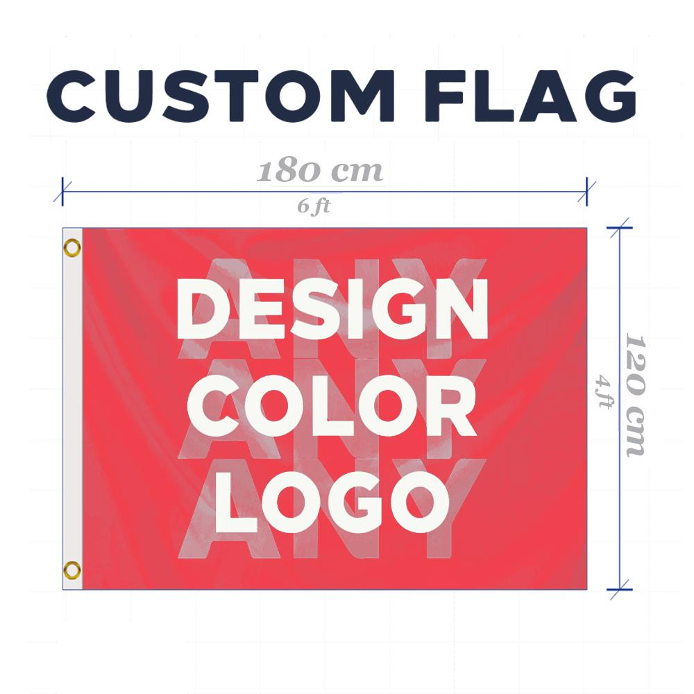 Individuelle 4x6 FT Flag jeder Größe Marke Firmenlogo Sport Outdoor Banner Banner 120x180cm anpassen Flaggen Messing-Ösen, freies Verschiffen