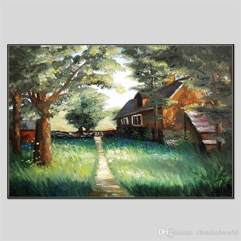 Совершенно новый Хуа Туо Пейзаж Стиль масляной живописи 60 х 90 см HT-1170540