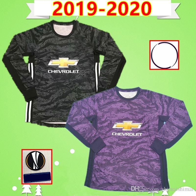 2020 2019 2020 Man United Goalkeeper Soccer Jerseys Purple Black Long Sleeve 19 20 Man Utd Football Shirts Home De Gea S Romero Grant From Shimaishimai 28 19 Dhgate Com