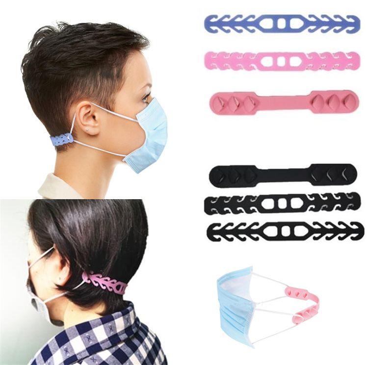 Silice masque ajustement pour les hommes et les femmes masque général type protecteur d'oreille but non tirant outil d'oreille, aider à soulager le crochet de l'oreille de masque 7058