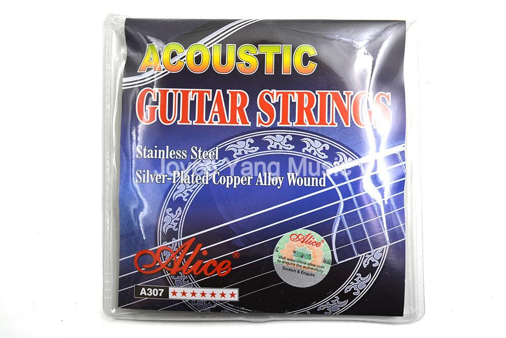 Alice A307-SL Akustik Gitar Strings Gümüş Kaplama Bakır Alaşım WoundStainless Çelik 1-6 Strings