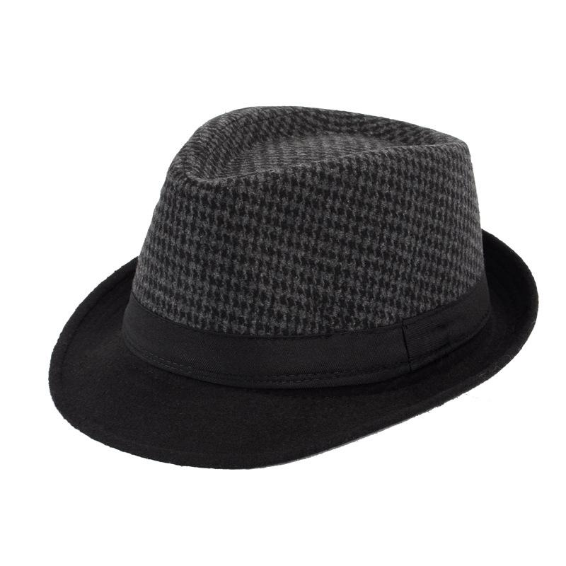 Men/'s Women/'s Classic Thick Short Brim Manhattan Gangster Trilby Cap Fedora Hat