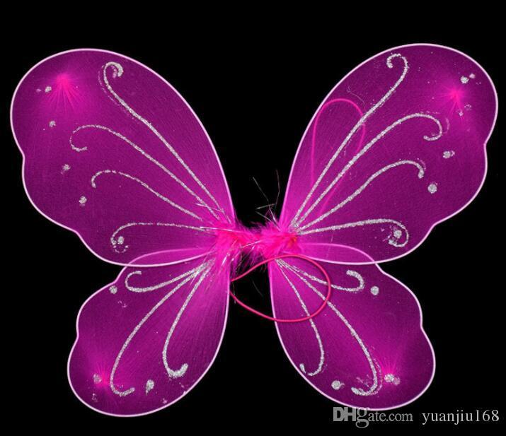 Çocuklar Kız Prenses Peri Kelebek Kanatları Cadılar Bayramı Fantezi Elbise Kostüm GB450
