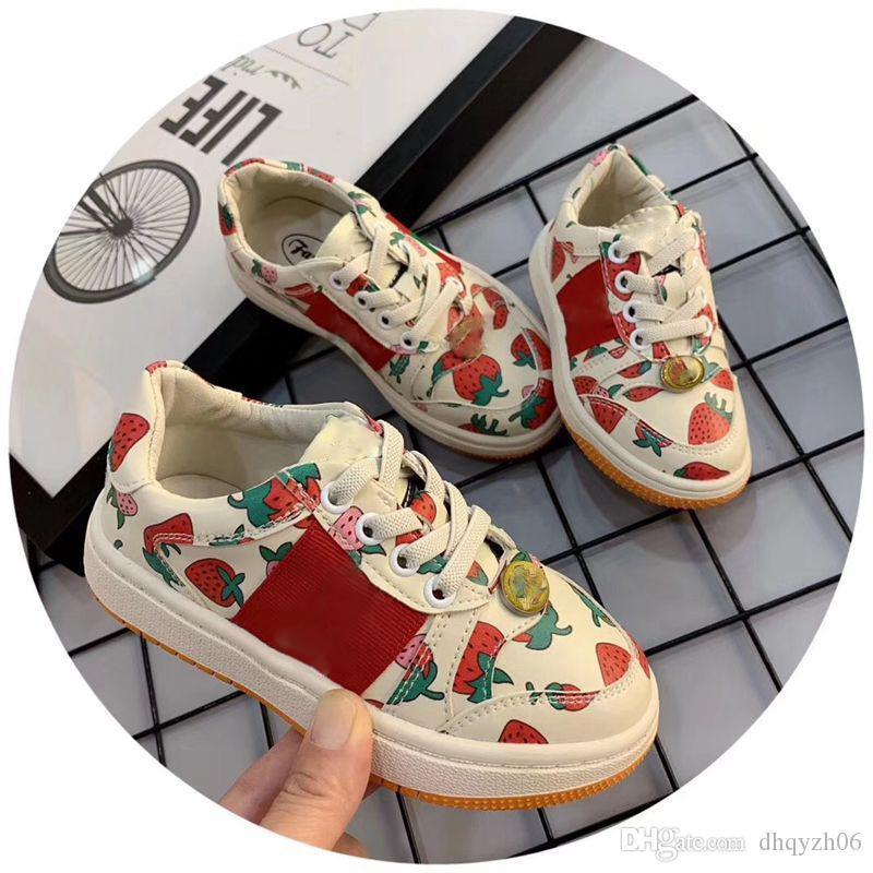 2020 새로운 패션 아이들이 여자 운동화 디자이너 브랜드 유아 부츠 봄과 가을 아이들의 스포츠 플랫 슈즈 캐주얼 아기 운동화