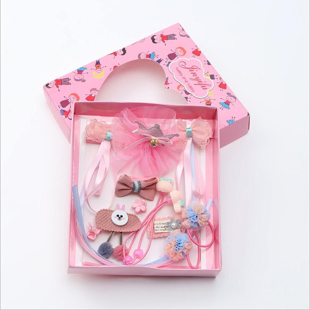 10Pcs Kids Toddler Hairpin Baby Girls Cartoon Animal Princess Moti Hair Clip Set