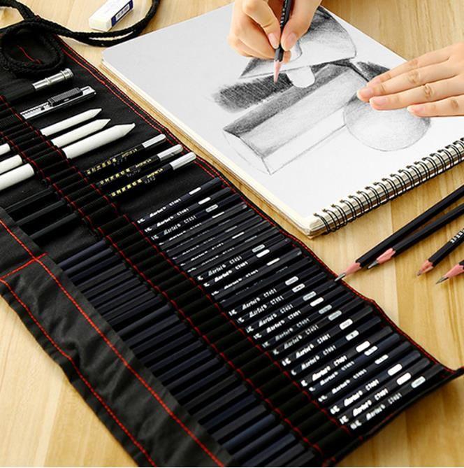 قلم رسم مجموعة المبتدئين 2b4b الكبار ماري اللوحة أدوات قلم رسم قلم رصاص الأطفال المستلزمات رسم حقيبة الفن