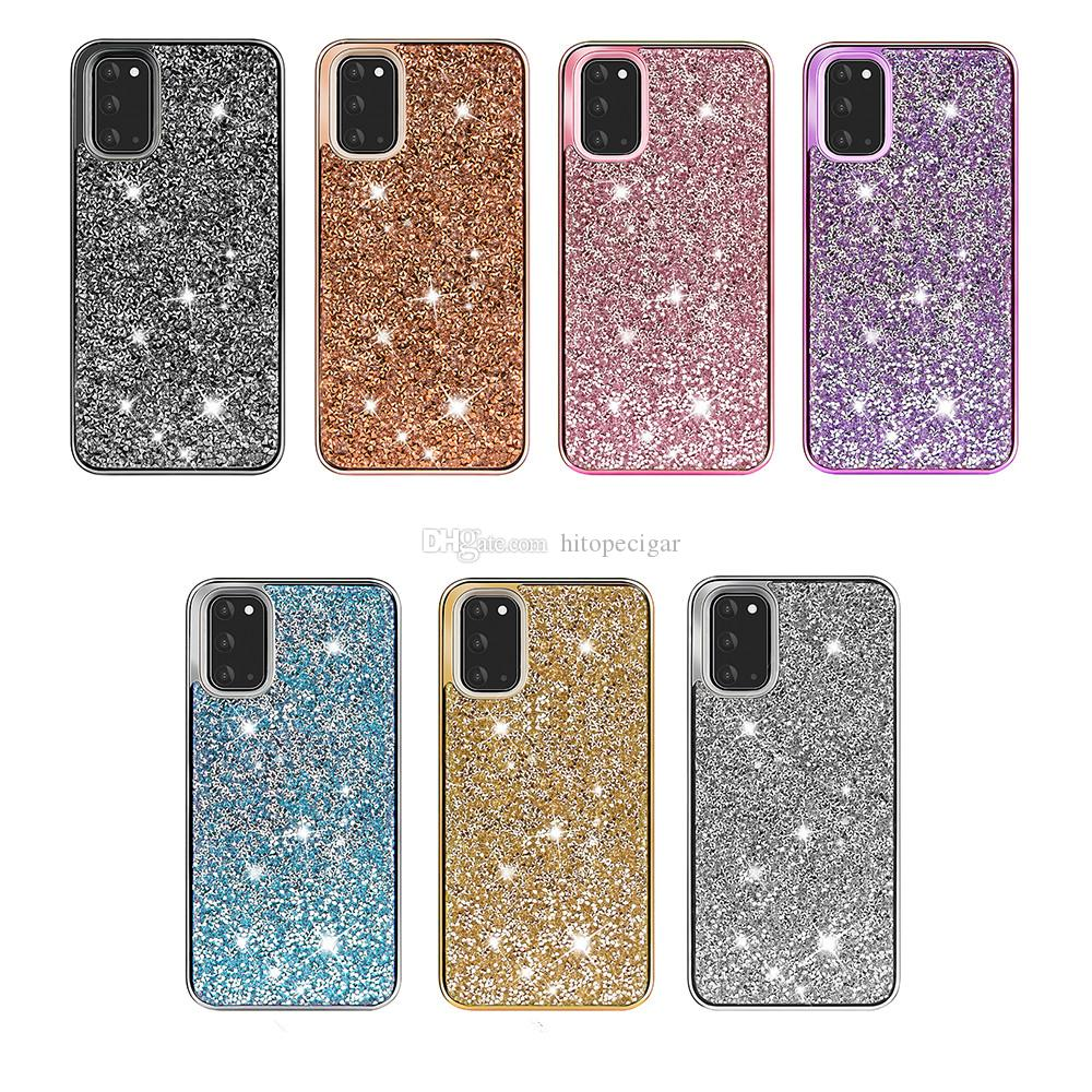 for Iphone 12 bling Case 2in1 PC+TPU Glitter Phone Case For iPhone 8 12 Mini 11 11 Pro Xr Xs MAX for Samsung S20 Note 20