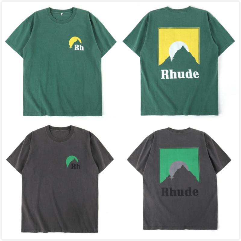 Mens T Shirt Uomini Donne Streetwear casual High Street maglietta del cotone Coppia Top Tees Rhude T-shirt