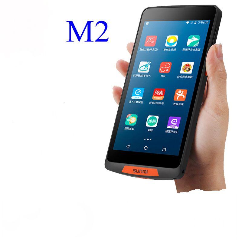 Sunmi M2 HandheldPOS Terminal Móvel Android 7.0 PDA QR Scanner de código de barras WiFi Bluetooth 4G Ordem Portátil PDA para restaurante