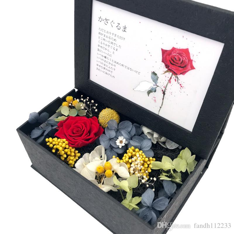Ready to Ship In Stock Fast Dispatch Valentine's Day Soap roses eternal Flower Photo Frame gift Box for Valentines day