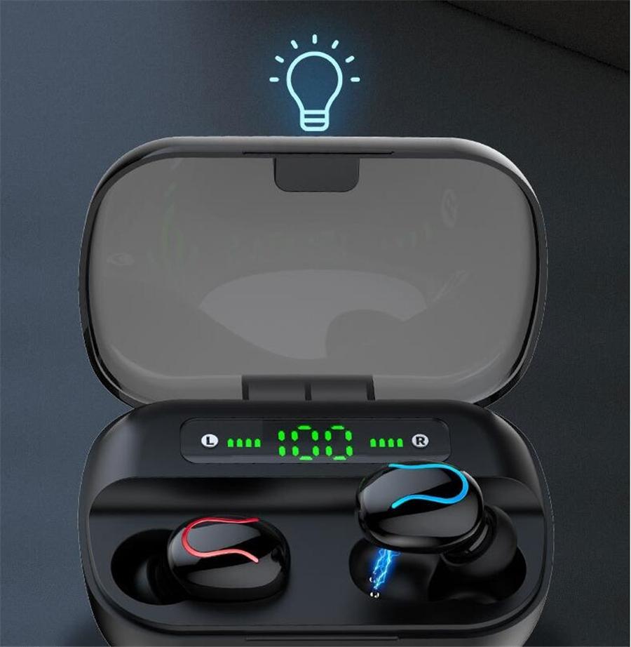 fones de Moda de Nova M1 sem fio Bluetooth fone de ouvido 5.0 Fones de ouvido 3D Stereo Mini fone de ouvido com cancelamento de ruído fones de ouvido # OU270