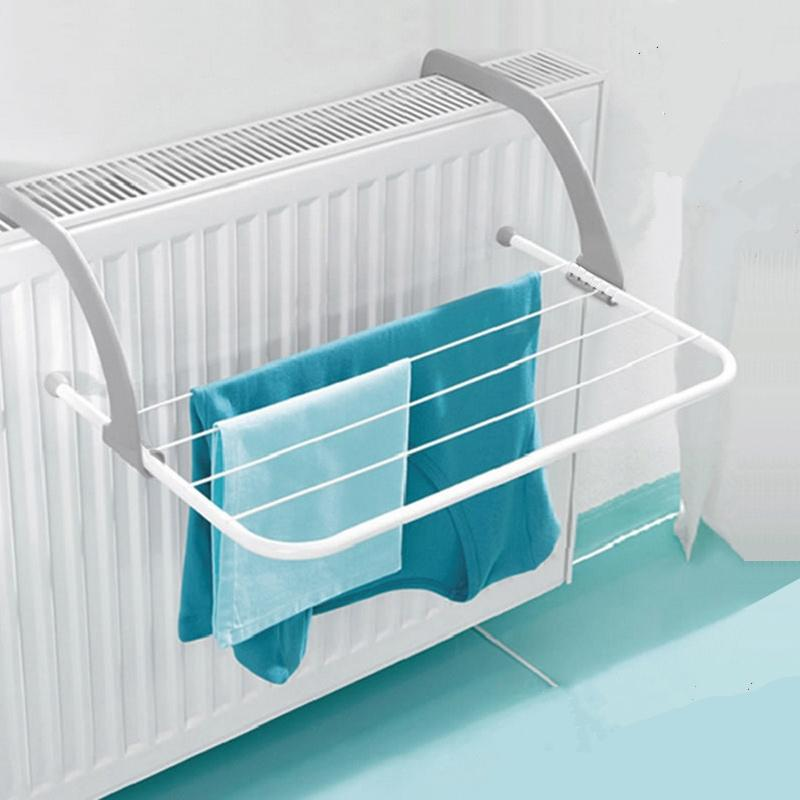 New Arrival Metal Hook Type Folding 5 Bar Towel Holder Storage Rack Organizer Drainer Shelf For Drying Rack Bathroom Storage Organization