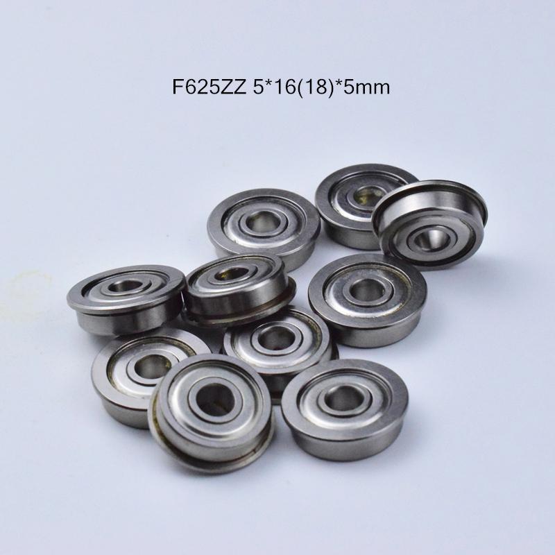 rolamentos F625 Flange frete grátis 625 F625 F625Z F625ZZ 5 * 1618 * 5 milímetros de aço cromado rolamento profundo do sulco