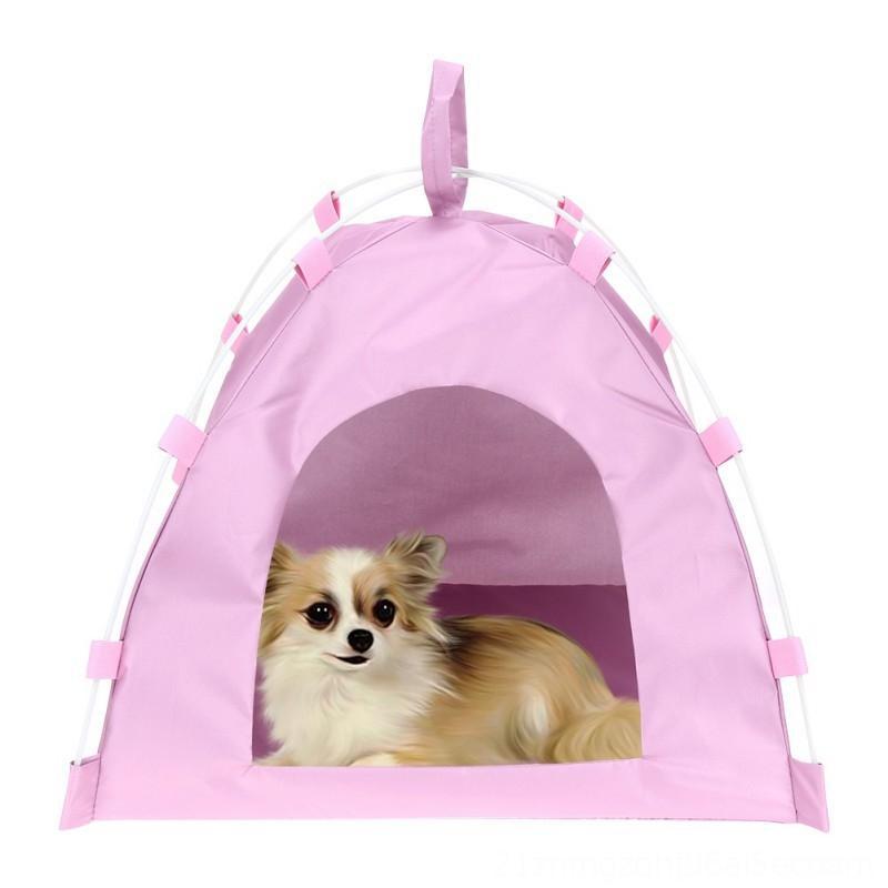휴대용 텐트 잠자는 집 개 고양이 놀이 매트 접는 개집 개 애완 동물 용품 침대 유니버설 개 방수 옥스포드 침대 애완 동물 용품