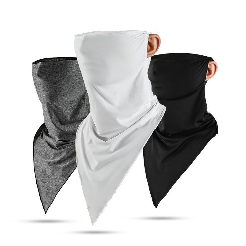 máscara de protección solar triángulo bufanda de hielo para hombres y mujeres deportes al aire libre de ventilación máscara de capa con capucha mágica multifuncional enmascarar T3I5731