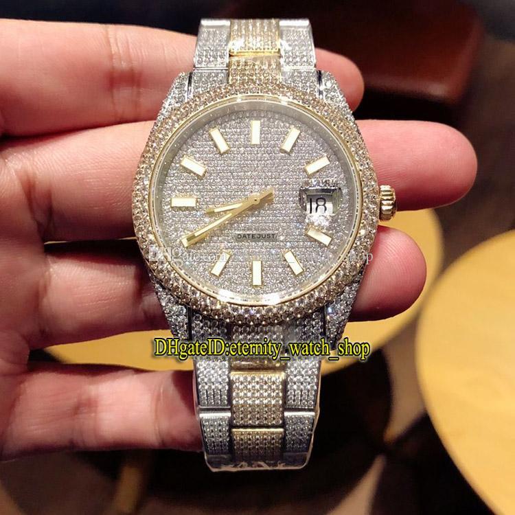 Top versión m126333 m126334 m118348 línea Diamante ETA 2824 automática de los 41MM mecánica del reloj para hombre relojes de diseño 904L caja de acero diamante