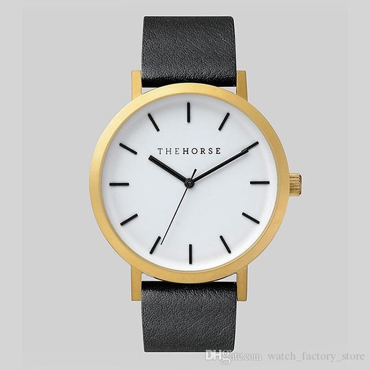 Die Pferdeliebhaber-Uhren Berühmte Designer-Luxus-Frau-Mann-Uhr 40mm Lederband Damen-Mädchen-Armbanduhren orologio di lusso
