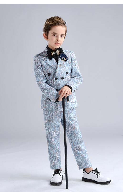 roupas Longqibao crianças set 2020 roupa nova para crianças hospedado de piano vestido de trajes meninos show show ternos roupas
